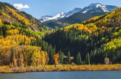 Beaver lake near town of marble colorado Stock Photos
