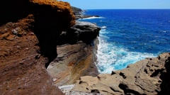 View of the coast from the cliff Stock Footage