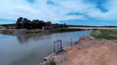 Irrigation Channel - NSW Australia - stock footage
