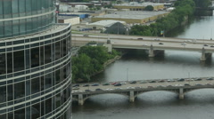 Grand Rapids Tower Time Lapse Stock Footage