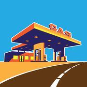 Modern petrol station Stock Illustration