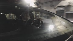 Car POV driving Italian City, Sicily. Time lapse. Driver. Stock Footage