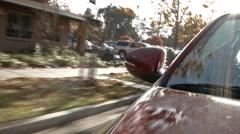 Stock Video Footage of Driving Trough Neighborhood