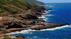 Amazing coast ocean Landscape Stock Footage