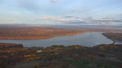 Hudson River 4K Aerials Stock Footage