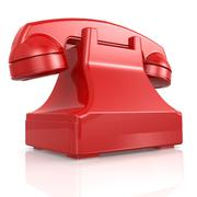 red isolated phone - stock illustration