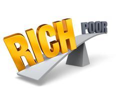 Rich versus poor Piirros