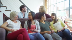 Portrait of a group of attractive young people smiling at the camera. Stock Footage