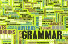 grammar - stock illustration