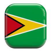 Stock Illustration of guyana flag icon image