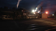 Locomotives waiting their turn Stock Footage