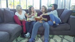 Young people socialising together and having fun. Stock Footage