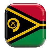 Vanuatu flag icon Stock Illustration