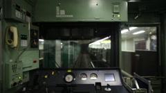 underground train metro tokyo people rush commute - stock footage