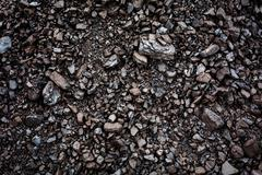 black coal textured background - stock photo