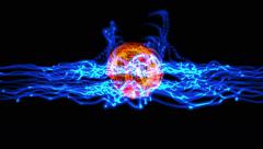 Energy ball plasma 4k Stock Footage