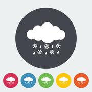 Sleet icon Stock Illustration