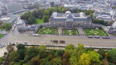 Establishing shot Royal Palace in Brussels Belgium ceremony, click for HD Stock Footage