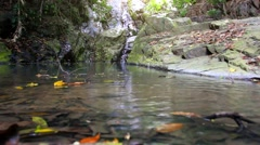 Waterfall in deep forest on Koh Samui. Thailand. HD. 1920x1080 Stock Footage