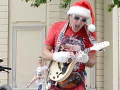 Santa plays the guitar, the rocker. Related clips have in my portfolio in HD. Stock Footage