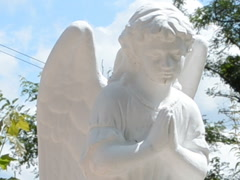 Monument in a look an angel. Related clips are in my portfolio in 1920x1080. Stock Footage