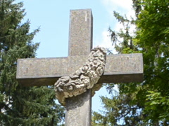 Cross on a cemetery. Related clips are in my portfolio in 1920x1080. Stock Footage