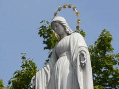 Virgin Mary. Related clips are in my portfolio in 1920x1080. Stock Footage