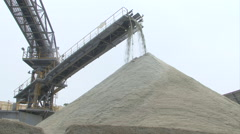 Transport of sand by conveyor belt  HDV to HD Stock Footage