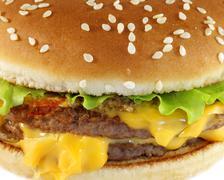 Stock Photo of double cheeseburger