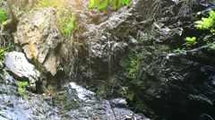 Waterfall in deep jungle forest on Koh Samui. HD. 1920x1080 Stock Footage