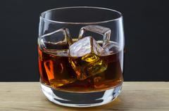 Stock Photo of whiskey on the rocks