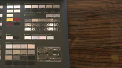 Tissue samples and materials on a black surface Stock Footage