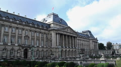 Royal Palace in Brussels, capital of Belgium, kings prince queen, click for HD Stock Footage