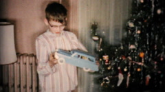 New Toy Car For Christmas Plus Games-1954 Vintage 8mm film Stock Footage