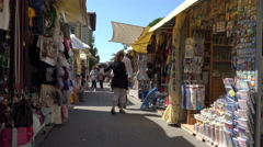 Pisa Italy city open market shops 4K 050 Stock Footage
