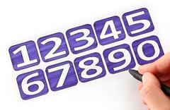 i draw numbers - stock photo