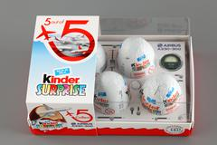 kinder surprise eggs set exclusive to travellers - stock photo