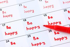 Plan for every day - be happy Stock Photos