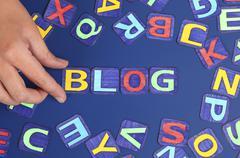 make you blog - stock photo