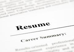resume - stock photo