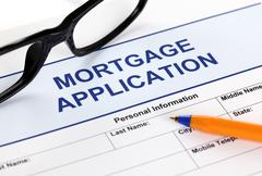 Stock Photo of mortgage application form