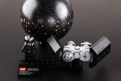 lego star wars set 75008 tie bomber & asteroid field - stock photo