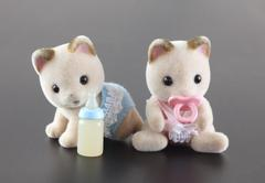 Sylvanian family kittens toy Stock Photos