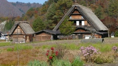 The Historic Villages of Shirakawa-gand Gokayama Stock Footage