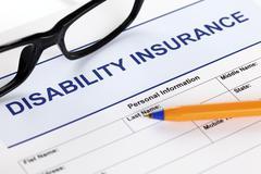 disability insurance - stock photo