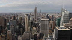 Big Apple New York City Skyline Landmark Sightseeing Empire State Building Sight Stock Footage