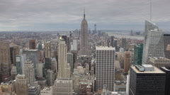 Icon Sights Empire State Building New York City Skyline Famous Landmark Daylight Stock Footage