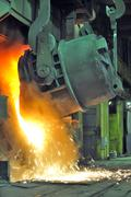 Working in a foundry Stock Photos