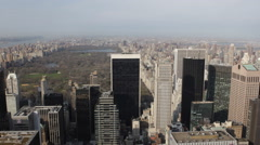 Above Skyscrapers Aerial View New York City Central Park Skyline Big Apple Tower Stock Footage