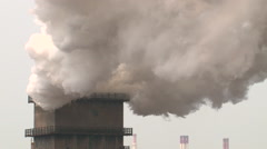 Big chimney with grey smoke HDV to HD - stock footage